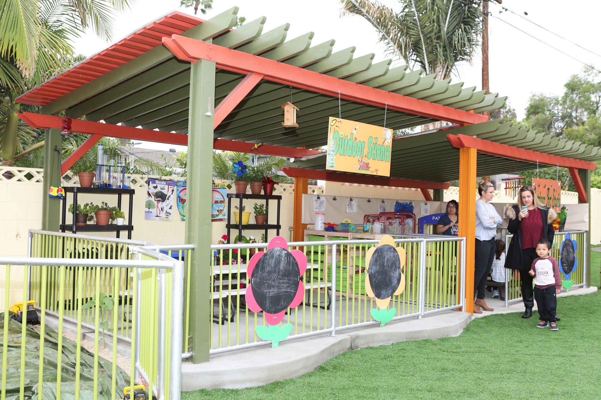 village preschool academy outdoor science